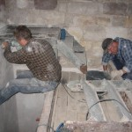 Sanierungsarbeiten Bismarckturm Weißenfels 2008 - Innentreppe