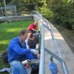 Sanierungsarbeiten Bismarckturm Weißenfels 2012 - Mauer