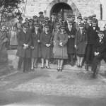 Schulabschluss am Bismarckturm 1931